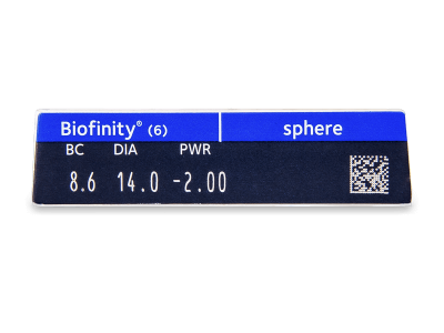 Biofinity (6lentile) - vizualizare parametrii