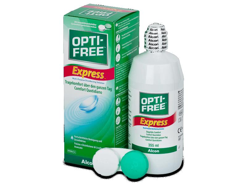 Soluție OPTI-FREE Express 355 ml  - soluție de curățare