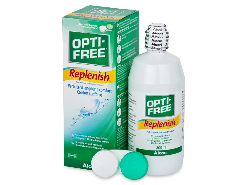 Soluție  OPTI-FREE RepleniSH 300ml  - soluție de curățare