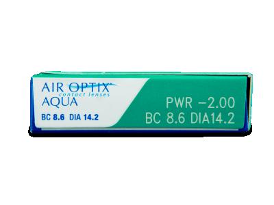 Air Optix Aqua (6lentile) - vizualizare parametrii