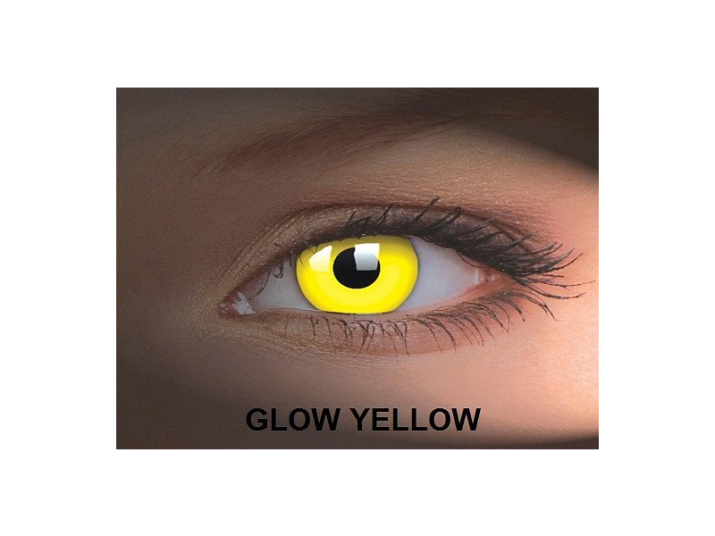 Crazy GLOW (2 lentile) - Glow Yellow