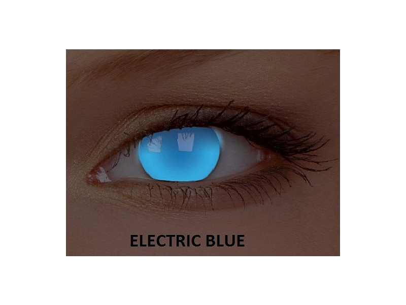 Crazy GLOW (2 lentile) - Electric Blue