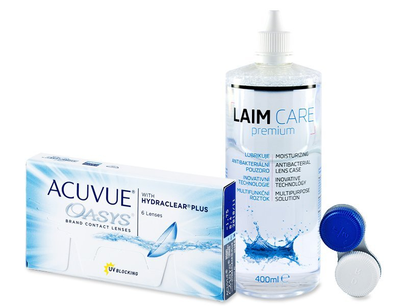 Acuvue Oasys (6lentile) + soluție LaimCare400ml - Pachet avantajos