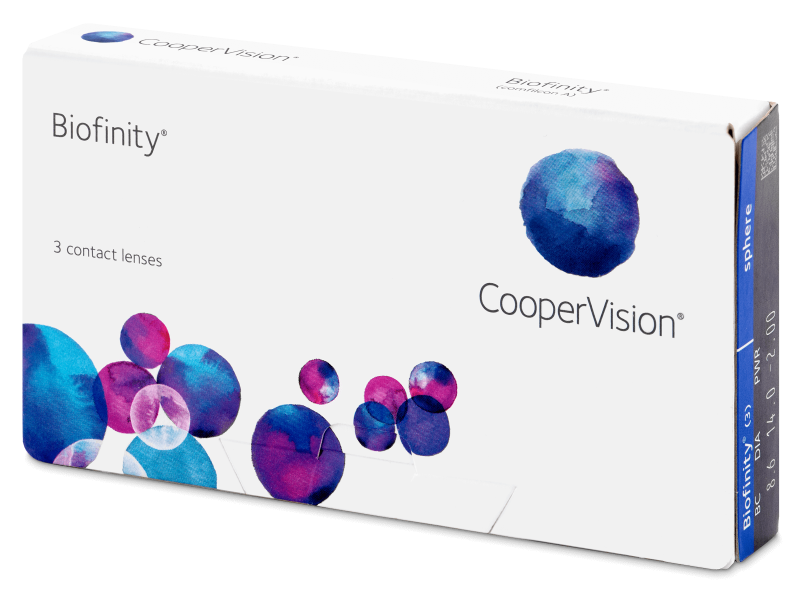Biofinity (3 lentile) -  Monthly contact lenses