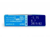 Acuvue Advance PLUS (6lentile) - vizualizare parametrii
