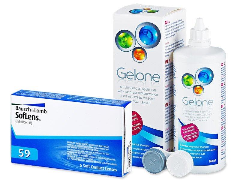 SofLens 59 (6lentile) +soluțieGelone360ml - Pachet avantajos
