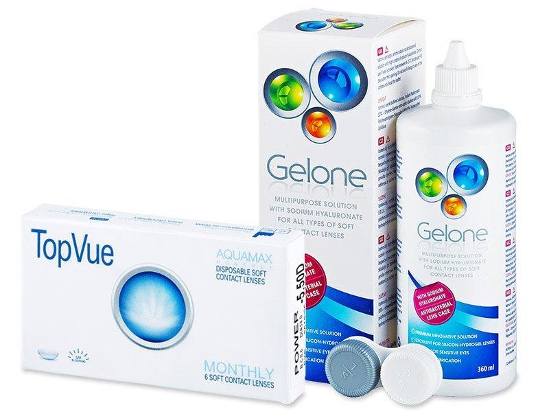 TopVue Monthly (6lentile) +solutieGelone360ml - Pachet avantajos