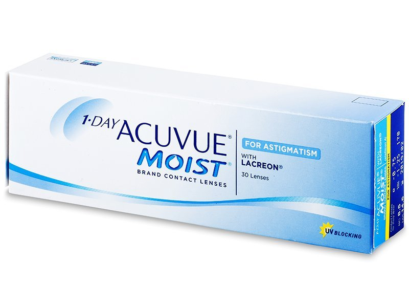 1 Day Acuvue Moist for Astigmatism (30 lentile) - Lentile de contact pentru astigmatism