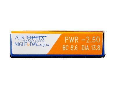 Air Optix Night and Day Aqua (3lentile) - vizualizare parametrii